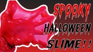 SCARY & SPOOKY HALLOWEEN SLIME! 3 Halloween Slimes: Blood, Glow in the Dark, Black & Orange!!!