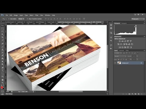 Editing Free Business Card Templates for Photographers