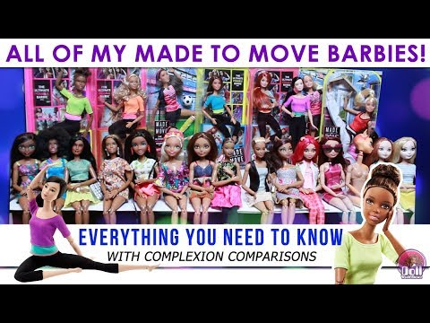 EVERY Made to Move Barbie with Complexion Matching