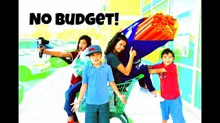 NO BUDGET at the DOLLAR STORE $$$ who bought the most?!