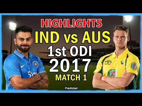 Live Match : India vs Australia 1st ODI , Live Cricket Score IND won by 26 Runs #INDvAUS