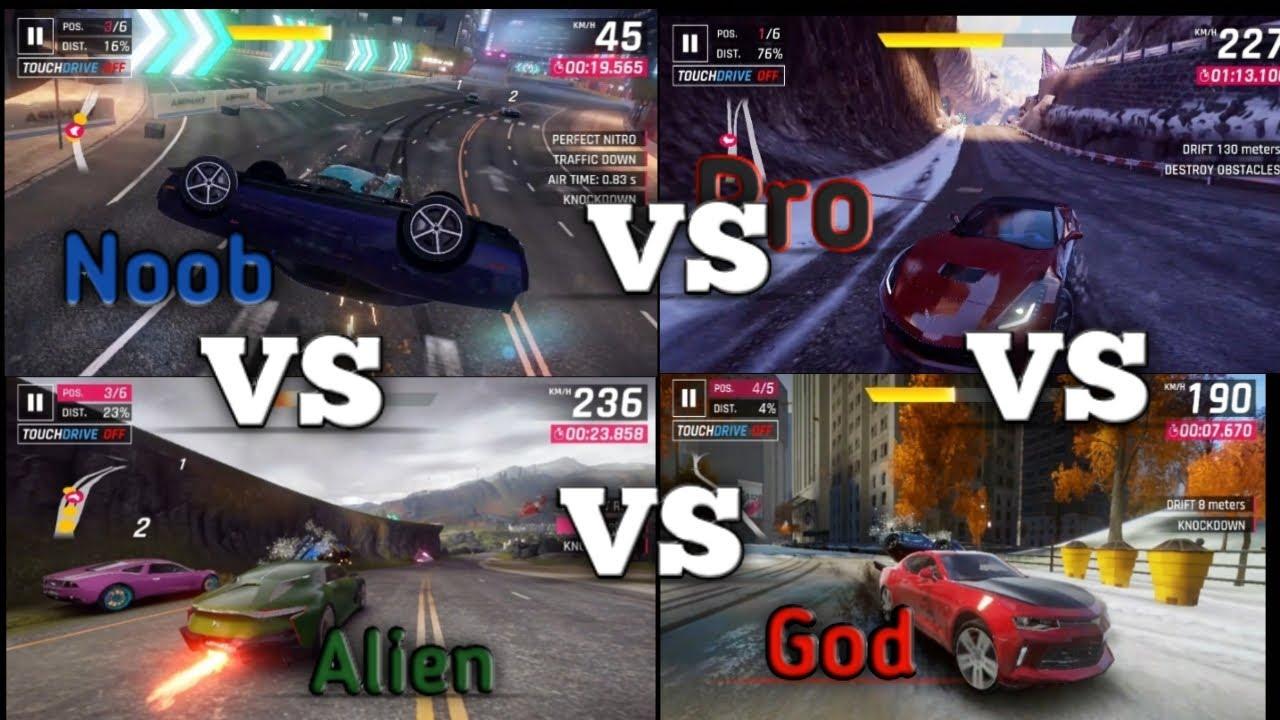 Download Asphalt-9 Noob vs Pro vs Alien vs God part-2