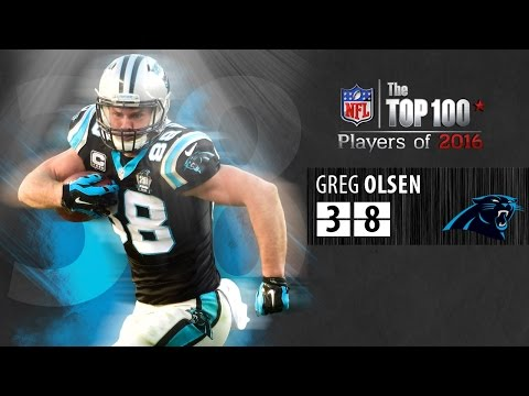 #38: Greg Olsen (TE, Panthers) | Top 100 NFL Players of 2016