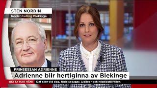 """""""Det är första gången som Blekinge har en hertiginna""""  - Nyheterna (TV4)"""