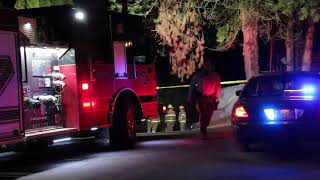 Raw: Police attend homicide scene in Coquitlam