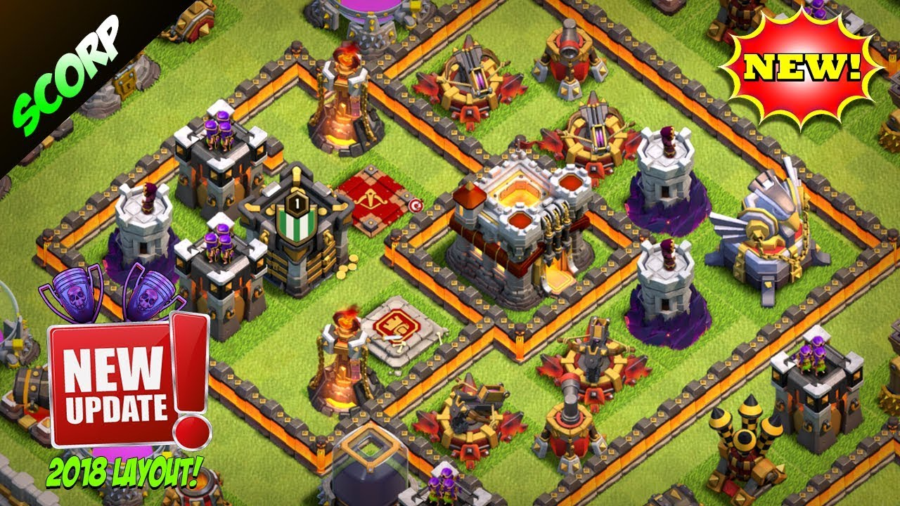 Th Trophy Base  Best Coc Base For Th Legend League Post Update Anti  Star Replays