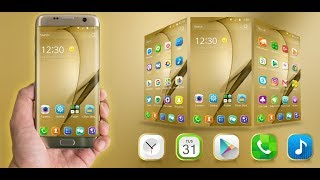 The best luxury launcher theme -Golden Theme For Galaxy S7 Edge