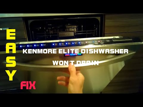How to clean kenmore elite dishwasher drain