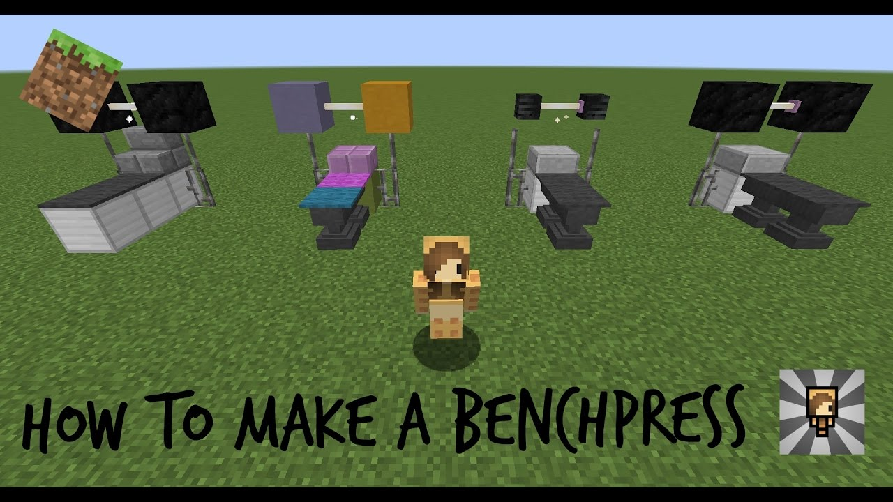 Minecraft How To Make A Bench Press Chibimaplebacon Youtube