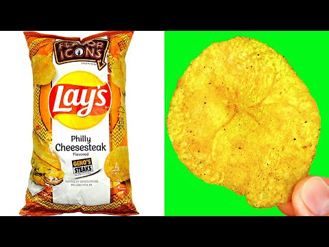 LAY'S POTATO CHIPS PHILLY CHEESESTEAK / Let's See What's Inside! / Walmart Food