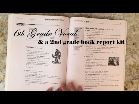 6th Grade Vocab  2nd Grade Book Report Kit - YouTube