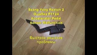 Ssang Yong Rexton II, P1124, ''Accelerator Pedal Sensor Malfunction''.