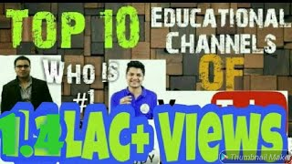 2018 YouTube's Top 10 #Educational #Study Channels In #India. Youtube पर सबसे अच्छा स्टडी चैनल ?