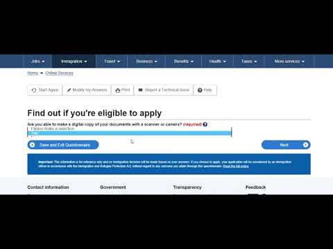 How To Apply For Open Work Permit Canada Online Step By Step Full Form Filling, Uploading