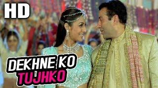 Dekhne Ko Tujhko | Sonu Nigam, Sunidhi Chauhan | Maa Tujhhe Salaam 2002 Songs | Sunny Deol, Tabu