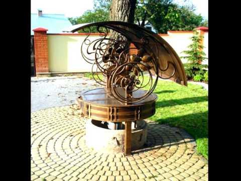 Красивый кованый колодец, дизайн колодца для частного дома, ковка в Днепропетровске, Днепре
