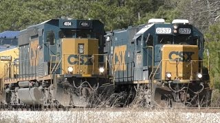 [4U] 9 CSX Trains On a Great Sunday Afternoon, Athens - Elberton, GA, 02/19/2017  ©mbmars01