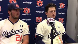 Auburn's Casey Mize And Conor Davis Discuss Friday Night Win