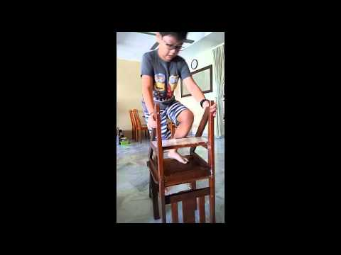 Wooden Chair Transforms Into A Step Ladder