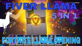 Fortnite - FIVER LLAMA | FIVE LLAMAS IN ONE | Fortnite Llama Opening