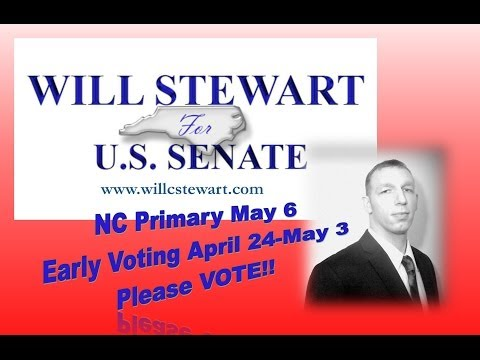 The Social Spitball Show Interview with Will C.  Stewart for U.S. Senate NC VOTE MAY 6!
