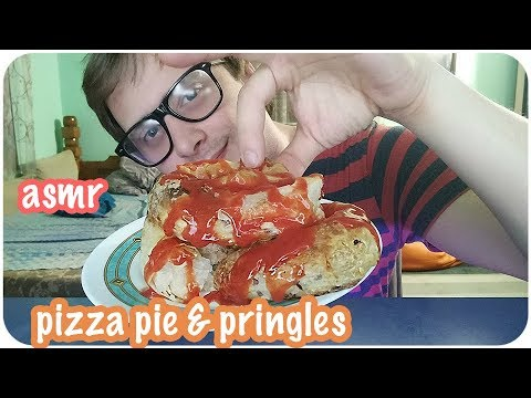 ASMR Let's Eat Pizza Pie with Crunchy Pringles