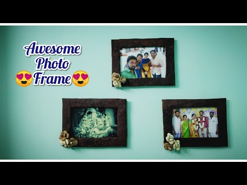 Awesome Photo Frame 🎨 Making out of Handmade sheets | DIY | Home Decoration | Easy Crafts