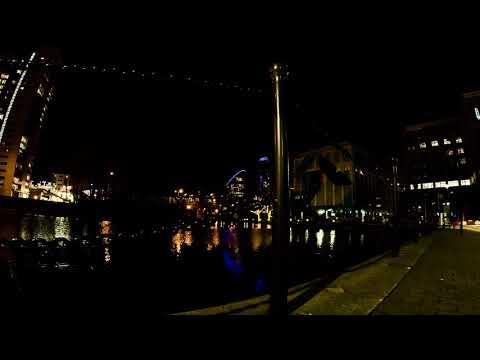 East India Dock, London. Hyper lapse