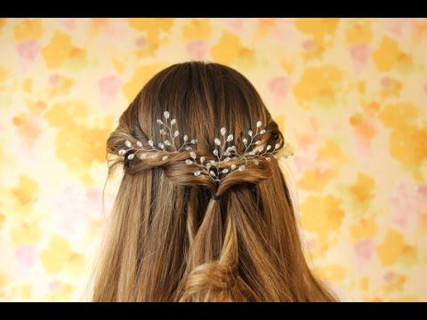 Свадебное украшение для волос своими руками