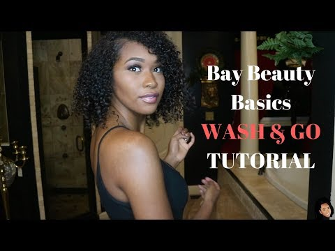 My Wash and Go + Curly Hair Routine | Bayleigh Daily