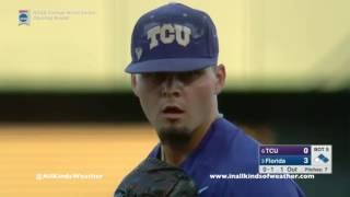 2017 College World Series Opening Round: #3 Florida Gators vs  #6 Texas Christian Horned Frogs