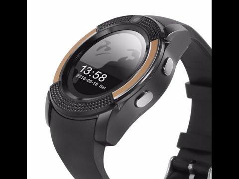 Timeowner Bluetooth Smart Watch V8 SIM Card TF Card HD Circular Screen  Smart Wrist Watch For Apple I