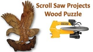 Scrollsaw Projects - Wood Puzzle - Eagle Catching Fish