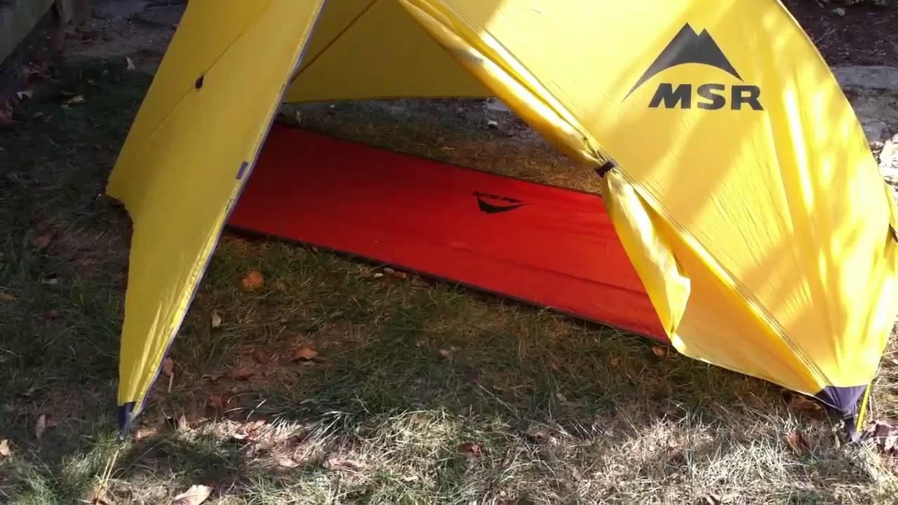 MSR Hubba solo tent with Footprint & MSR Hubba solo tent with Footprint - YouTube