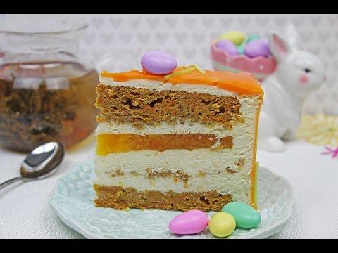 Carrot Mousse Cake | Easter Cake