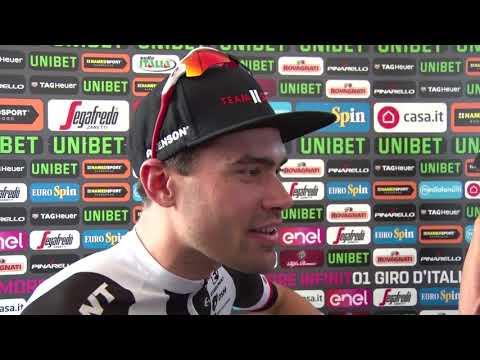 Tom Dumoulin - interview na de aankmost - Rit 21 - Giro d'Italia / Ronde van Italië 2018