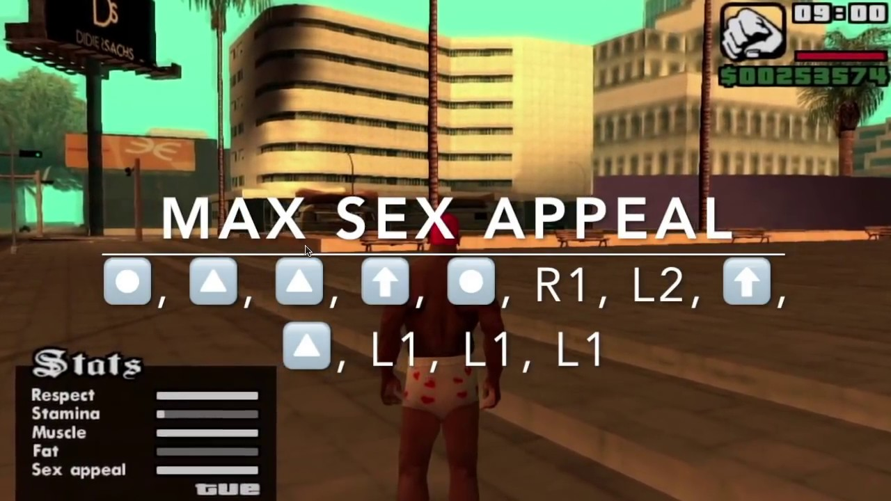 Cheat code sex appeal gta san andreas ps2