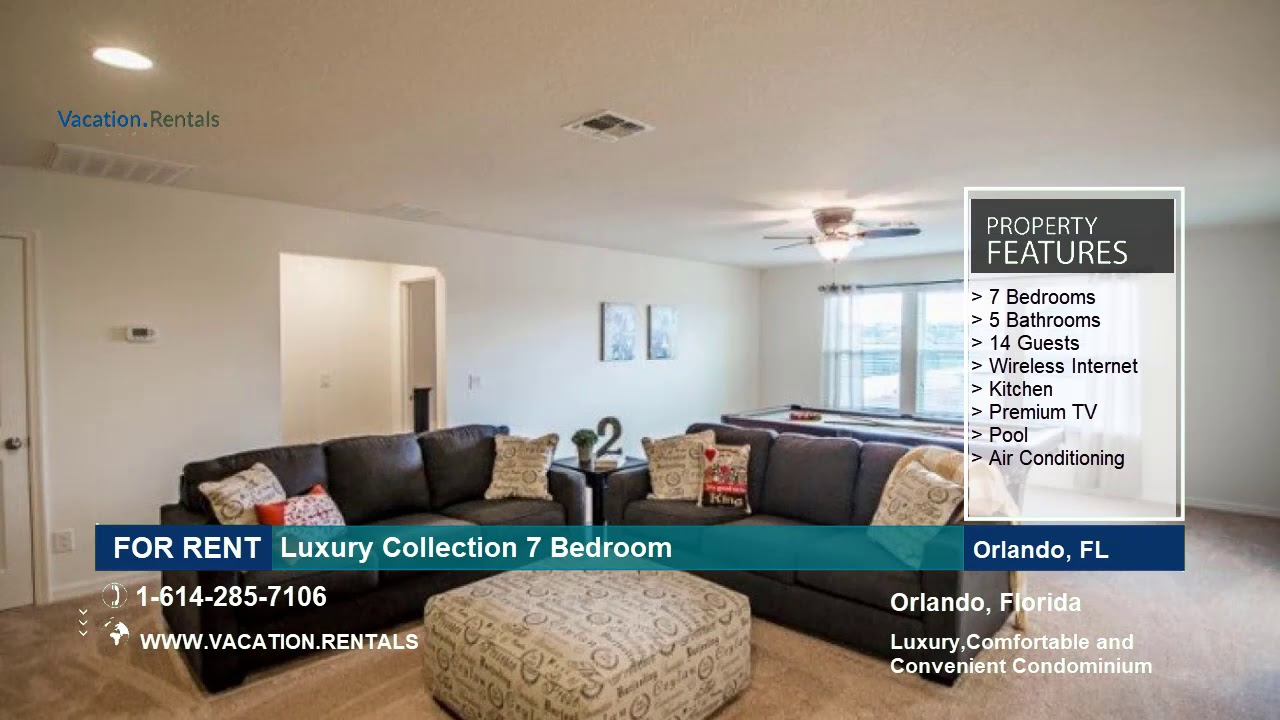 Florida vacation rentals luxury collection 7 bedroom - 7 bedroom vacation rentals in orlando ...