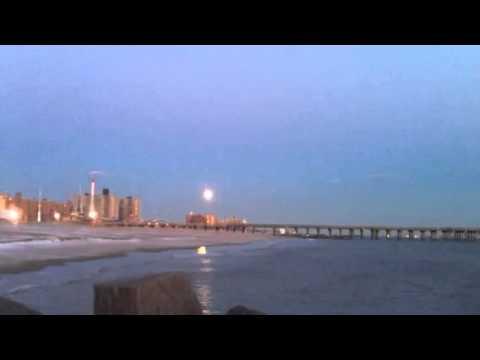 Moon light sunset