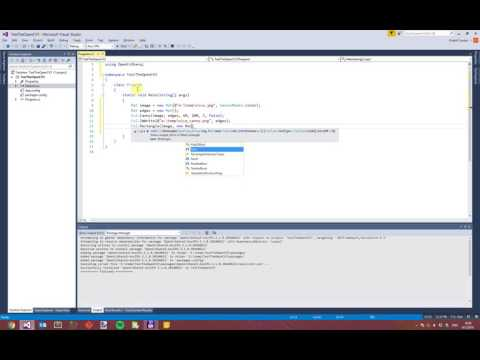 OpenCVSharp3 első lépések - YouTube