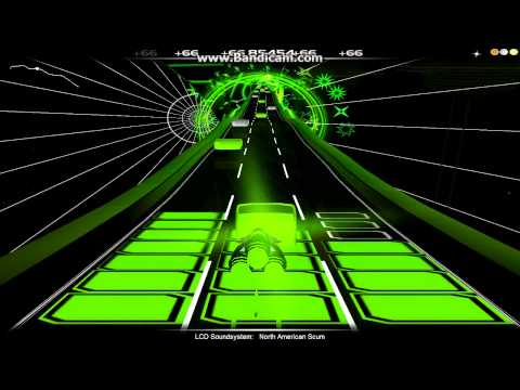 Audiosurf: LCD Soundsystem - North American Scum [Lyrics]
