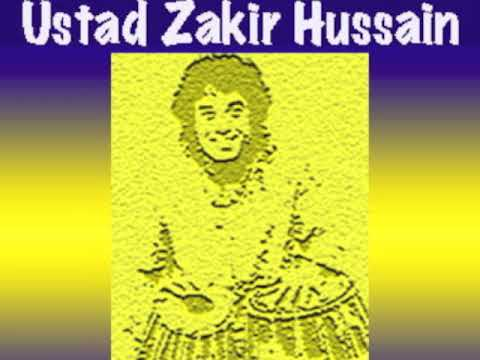 Tabla Solo in Tintal by Ustad Zakir Hussain, Live in mid 80s CA. USA