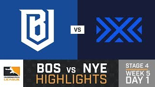 HIGHLIGHTS Boston Uprising vs. New York Excelsior | Stage 4 | Week 5 | Day 1 | Overwatch League