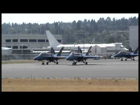 Blue Angels Formation Takeoff at Boeing Field