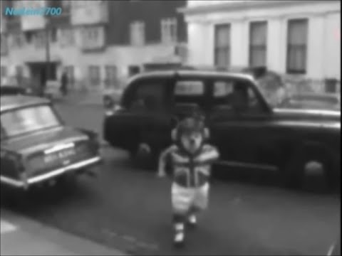 October 19, 1965 - The British football team mascot World Cup Willie, arriving at the FA in London