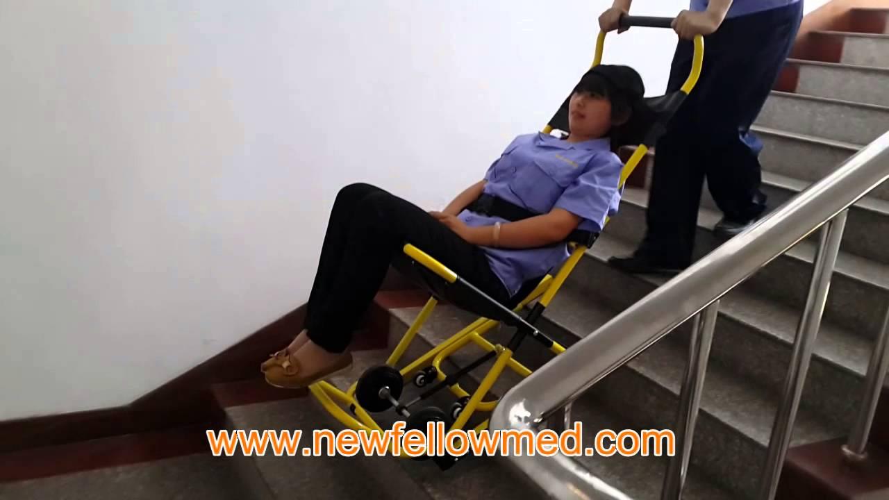 ems stair chair glider ottoman stretcher nf w4 emergency wheel ambulance equipment medical in china youtube