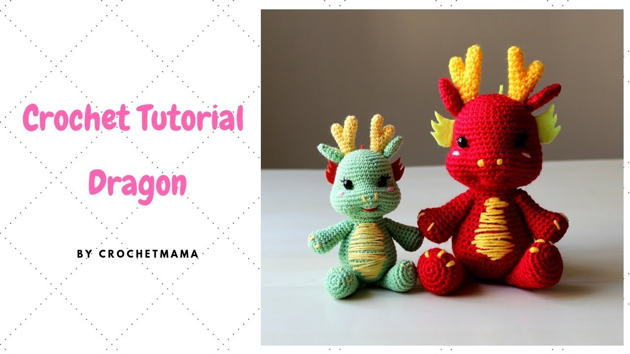 Crochet Dragon Amigurumi Tutorial Pattern Youtube