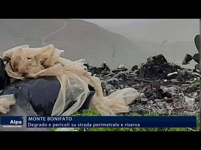 Monte Bonifato,  degrado lungo la SR03. Riserva abbandonata
