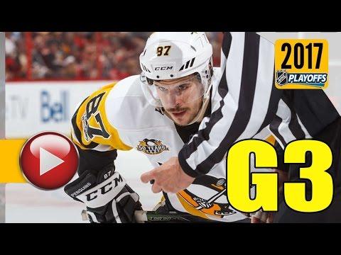 Ottawa Senators vs Pittsburgh Penguins. NHL 2017 Playoffs. Eastern Conference Final. Game 3.