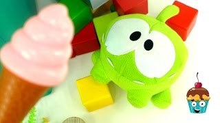 Om Nom. Toy's adventures - Toy videos. An ice cream.